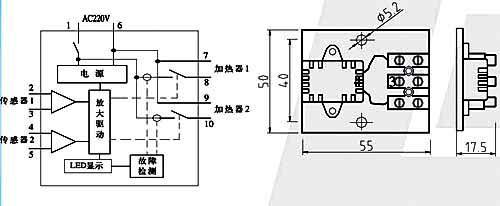 如加热器断线或损 毁,控制器故障指示灯点亮.